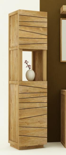 Achat vente colonne tag re de salle de bains en teck - Colonne rangement salle de bain ...