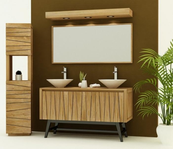 achat vente meuble de salle de bain teck arrezo meuble en teck salle de bain. Black Bedroom Furniture Sets. Home Design Ideas