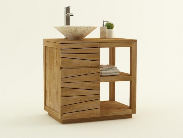 meuble salle de bain bois 80 cm