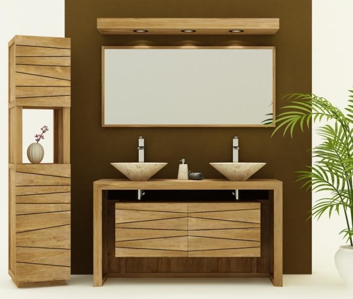 achat vente meuble de salle de bain teck nova 140 meuble en teck salle de bain. Black Bedroom Furniture Sets. Home Design Ideas