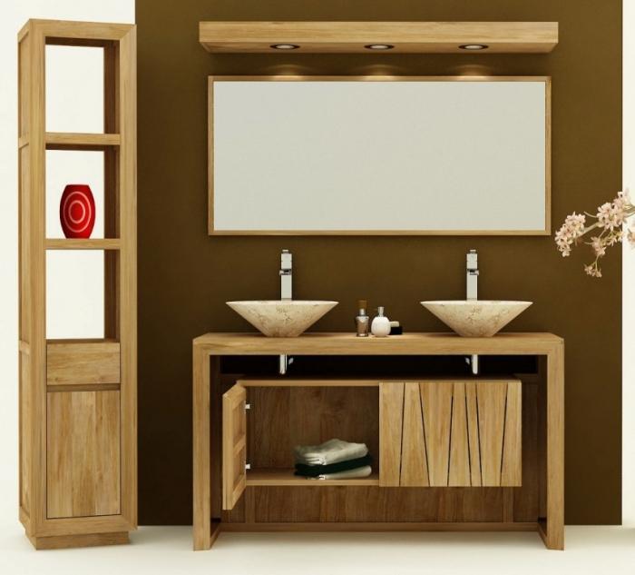 Achat vente meuble de salle de bain teck remine meuble en for Vente meuble de salle de bain