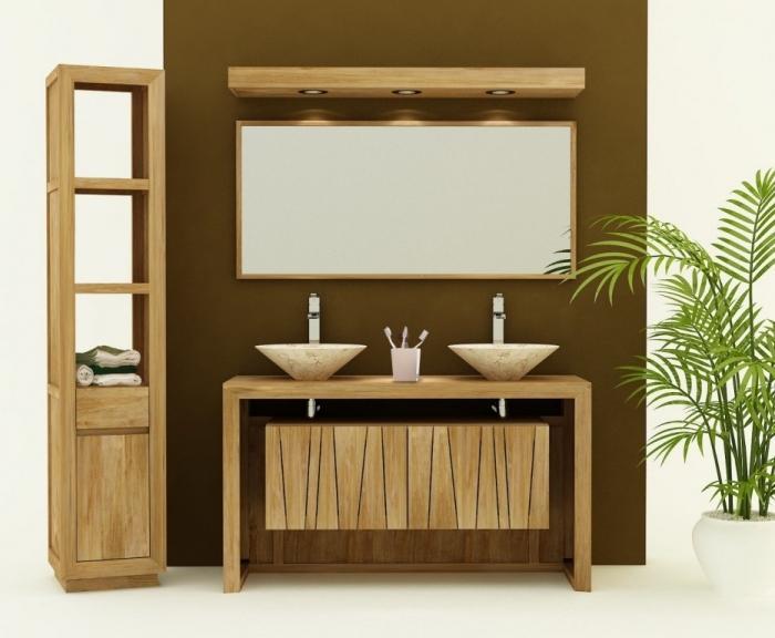 achat vente meuble de salle de bain teck remine meuble en teck salle de bain. Black Bedroom Furniture Sets. Home Design Ideas