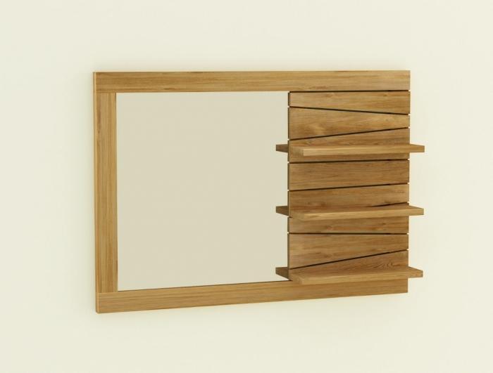 Achat vente de miroir en teck timare 100 cm - Miroir avec etagere salle bain ...