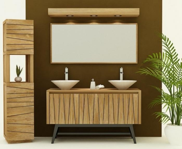 achat vente meuble de salle de bain teck arrezo meuble en. Black Bedroom Furniture Sets. Home Design Ideas
