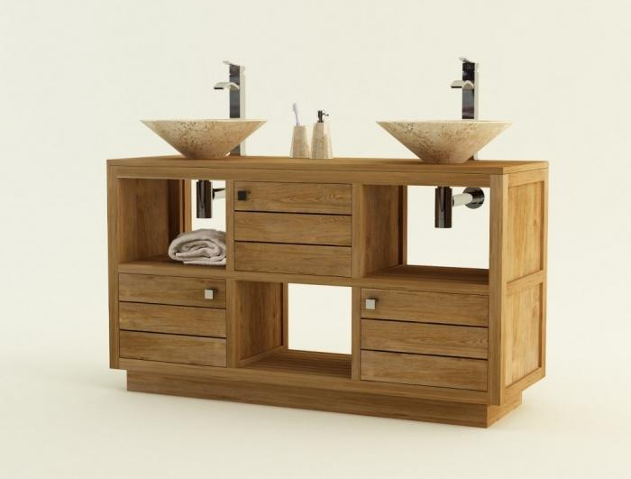 achat meuble de salle de bain teck asti meuble bain. Black Bedroom Furniture Sets. Home Design Ideas