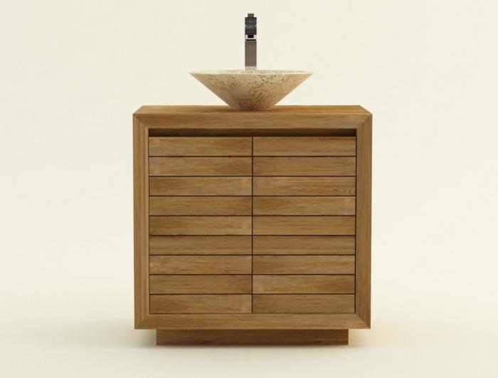 Achat vente meuble de salle de bain teck monza meuble en for Vente meuble de salle de bain