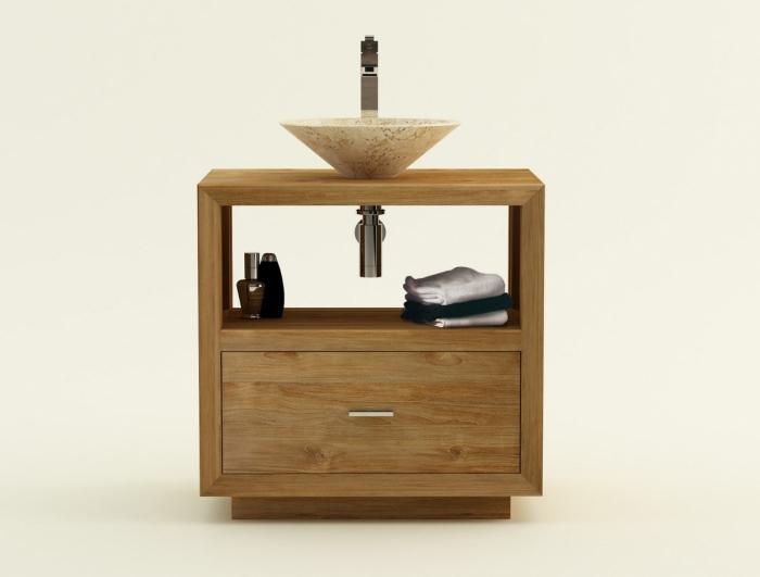 achat vente meuble de salle de bain teck trani meuble en teck salle de bain. Black Bedroom Furniture Sets. Home Design Ideas