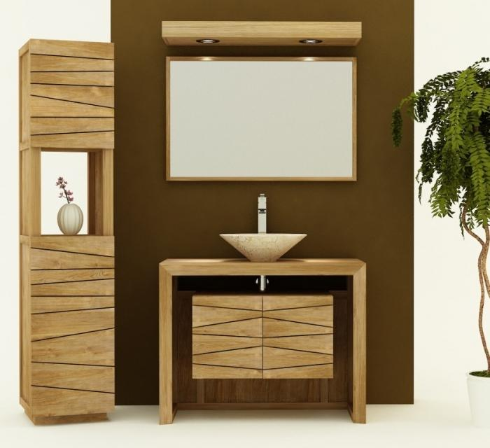achat vente meuble de salle de bain teck nova 100 meuble. Black Bedroom Furniture Sets. Home Design Ideas
