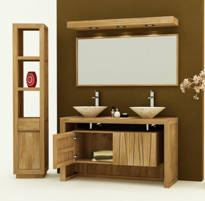 achat vente meuble de salle de bain teck remine meuble en teck salle de bain. Black Bedroom Furniture Sets. Home Design Ideas