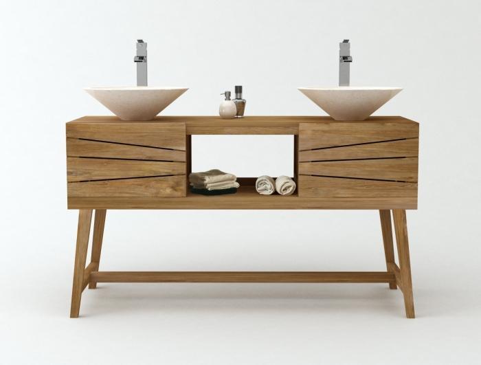 achat vente meuble de salle de bain teck rubi meuble en teck salle de bain. Black Bedroom Furniture Sets. Home Design Ideas