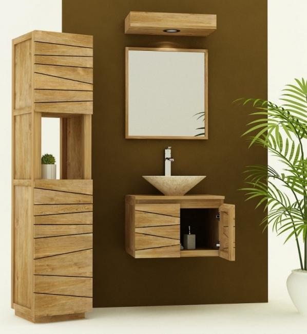 meuble suspendu teck salle de bain. Black Bedroom Furniture Sets. Home Design Ideas