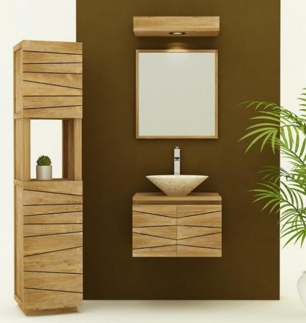 achat vente meuble de salle de bain teck suspendre. Black Bedroom Furniture Sets. Home Design Ideas