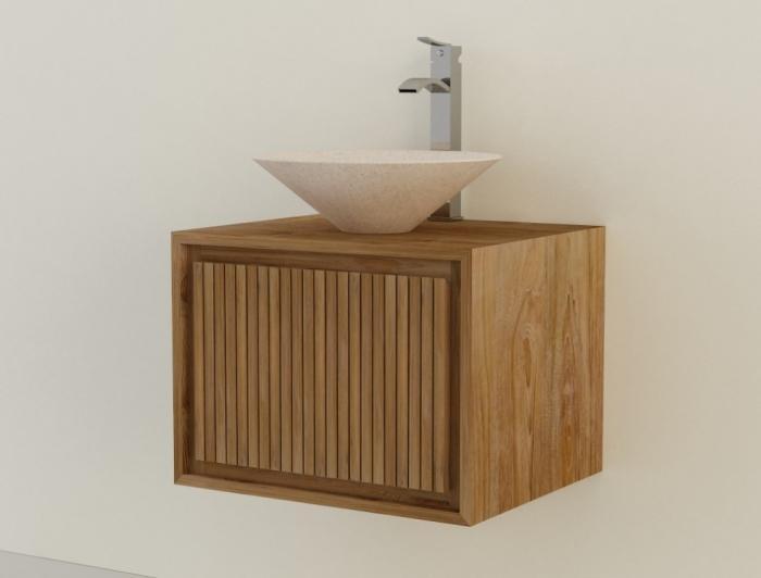 achat vente meuble de salle de bain teck suspendre parla meuble en teck salle de bain. Black Bedroom Furniture Sets. Home Design Ideas