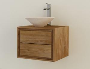 Nos meubles avec lavabo int gr en teck vasque simple - Meuble salle de bain teck 60 cm ...