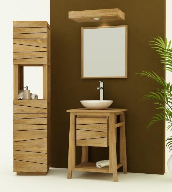 Achat meuble salle de bain teck palma choisissez la for Meuble de salle de bain 60 cm