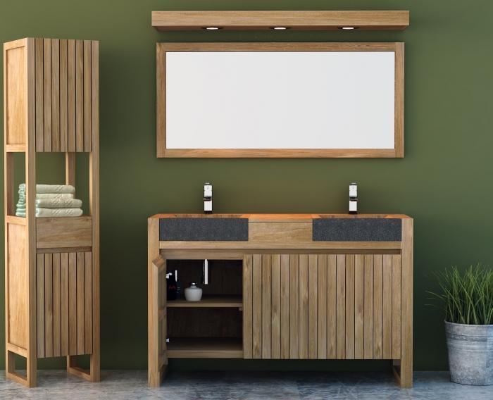 Achat vente meuble de salle de bain teck terni meuble en - Creation meuble salle de bain ...