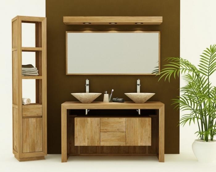 Achat meuble de salle de bain teck adria meuble en teck salle de bain - Achat meuble salle de bain ...