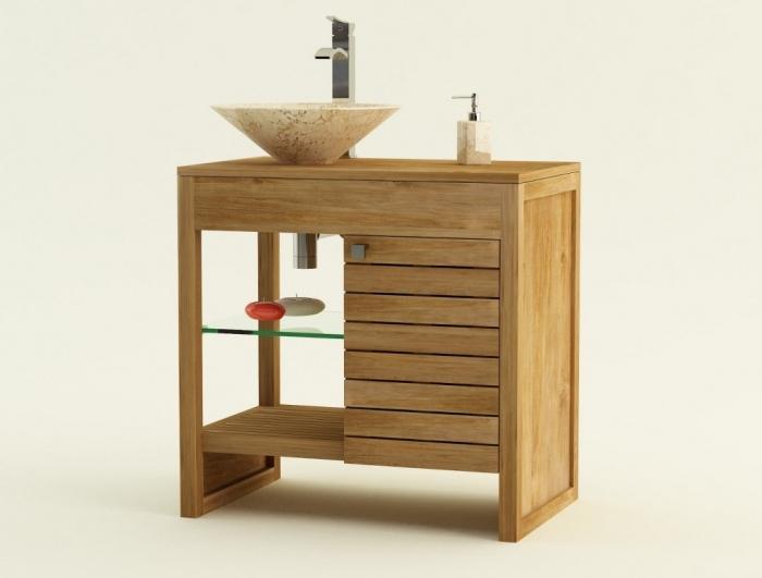 Achat vente meuble de salle de bain teck udine meuble en for Achat meuble salle de bain