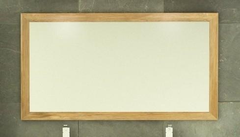 Achat vente de miroir design en teck rectangulaire for Miroir design salle de bain