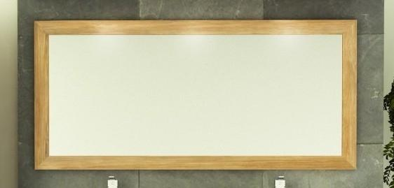 achat vente de miroir design en teck rectangulaire. Black Bedroom Furniture Sets. Home Design Ideas