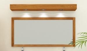 Miroirs en teck votre d coration en bois pour la salle de bain for Miroir teinte design