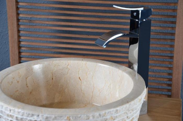 vasque en marbre beige moelan vasque de salle de bain en marbre ou ... - Vasque Beige Salle De Bain