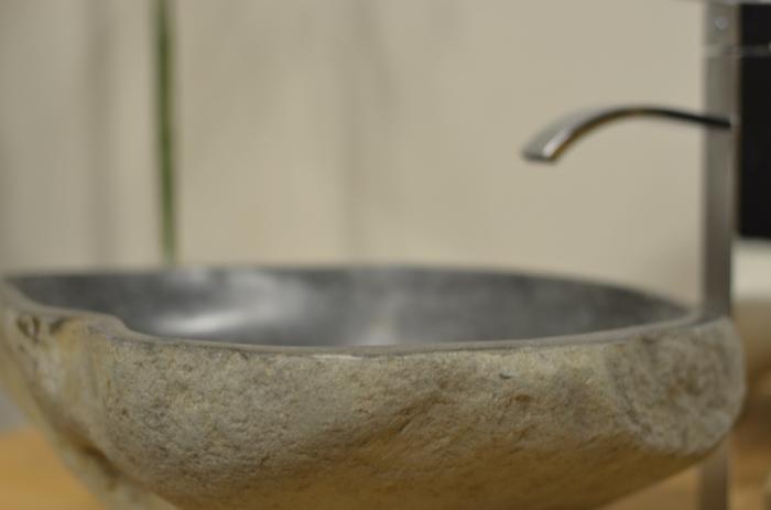 Achat vasque galet vasque en pierre naturelle pour une - Vasque salle de bain originale ...